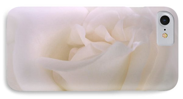 Softness Of A White Rose Flower IPhone Case