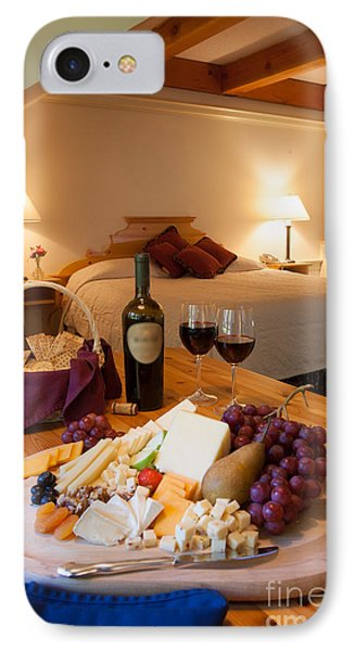 Wine And Cheese In A Luxurious Hotel Room. IPhone Case