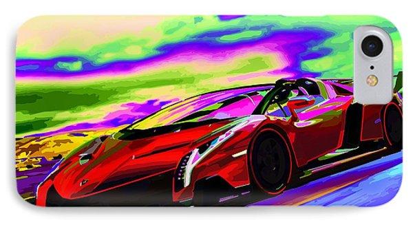 2014 Lamborghini Veneno Roadster Abstract IPhone Case