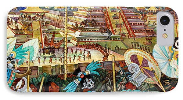 Diego Rivera Mural Mexico City IPhone Case