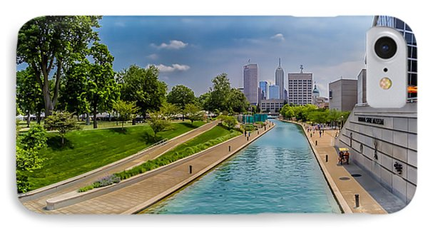 Indianapolis Skyline From The Canal IPhone Case