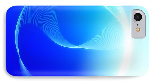 Modern Blue Abstract  IPhone Case