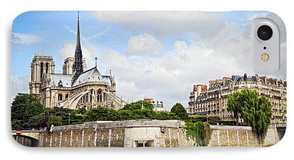French iPhone 8 Case - Notre Dame De Paris by Elena Elisseeva