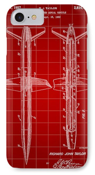 Rocket Patent 1953 - Red IPhone Case