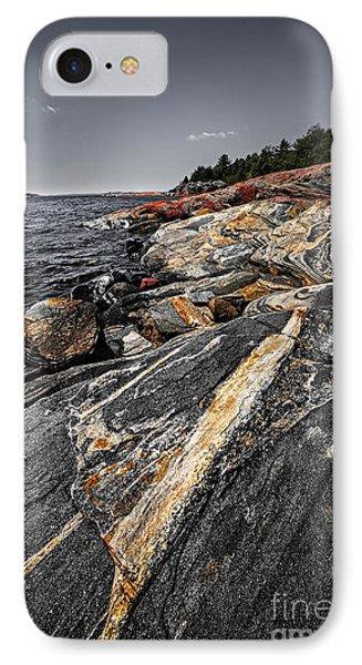 Rocks At Georgian Bay IPhone Case