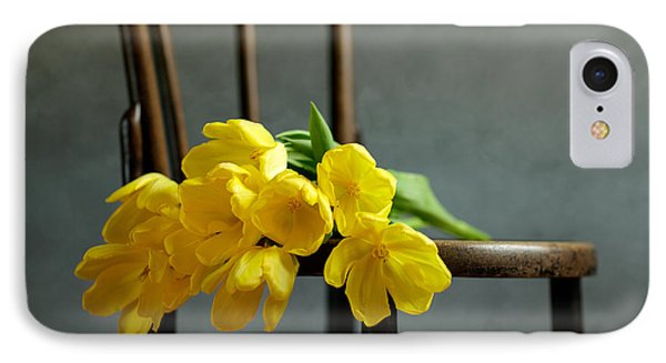 Tulip iPhone 8 Case - Still Life With Yellow Tulips by Nailia Schwarz