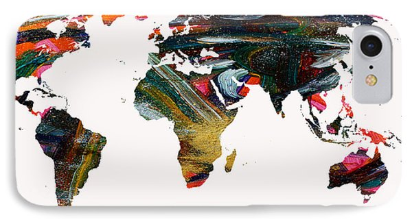World Map And Human Life IPhone Case