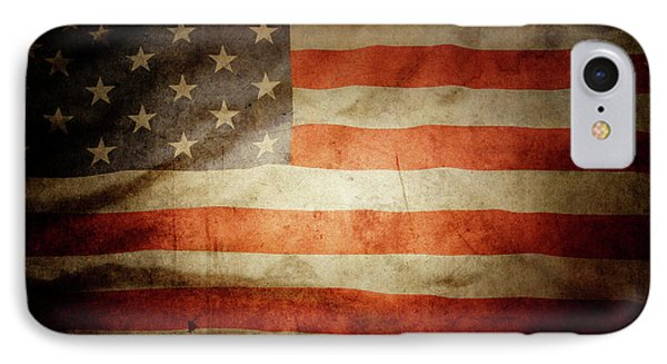 American iPhone 8 Case - American Flag Rippled by Les Cunliffe