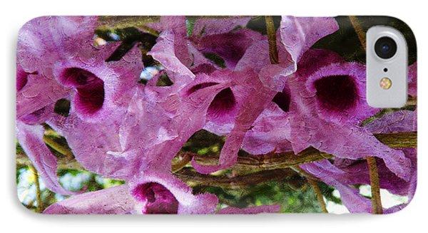 Purple Orchids IPhone Case