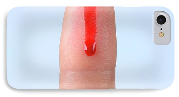 Blood Droplet On Finger IPhone Case