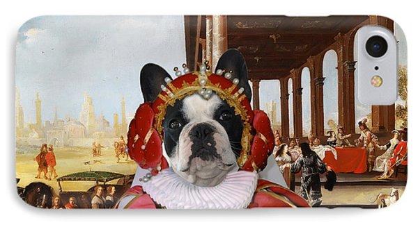 French Bulldog Art Canvas Print IPhone Case