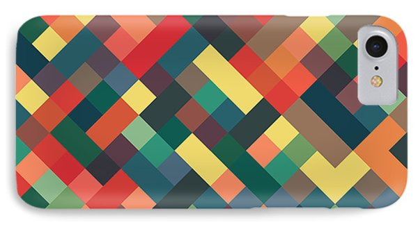 Shapes iPhone 8 Case - Pixel Art by Mike Taylor