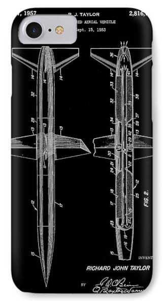 Rocket Patent 1953 - Black IPhone Case