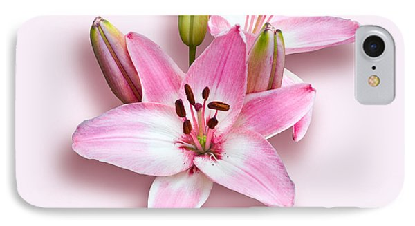 Spray Of Pink Lilies IPhone Case