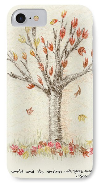 4 Trees-1st Tree Fall IPhone Case