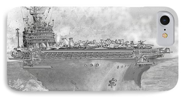 Usn Aircraft Carrier Abraham Lincoln IPhone Case