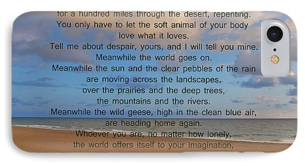 40- Wild Geese Mary Oliver IPhone Case