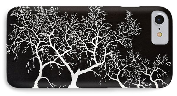 5 Trees In Black And White IPhone Case
