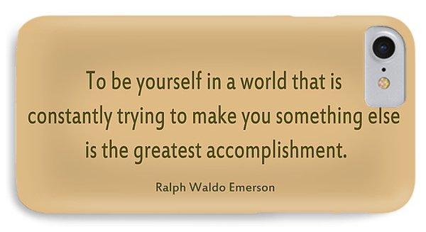 58- Ralph Waldo Emerson IPhone Case