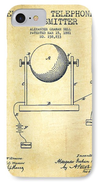 Alexander Graham Bell Electric Telephone Transmitter Patent From IPhone Case