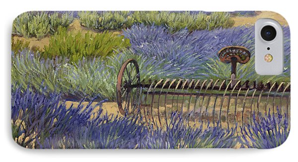 Edge Of The Lavender Field IPhone Case