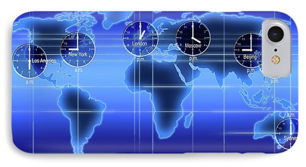 World clock iphone 8 cases fine art america world clock iphone 8 case world map illustration with time zones by alfred pasieka gumiabroncs