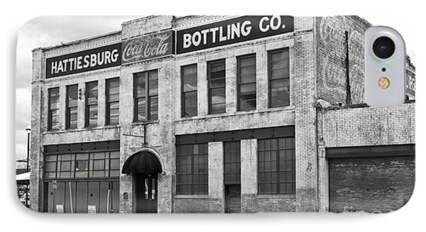 Coca Cola Sign On The Side Of A Brick Building In Hattiesburg Mi IPhone Case