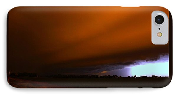 Nebraskasc iPhone 8 Case - Late Night Nebraska Shelf Cloud by NebraskaSC