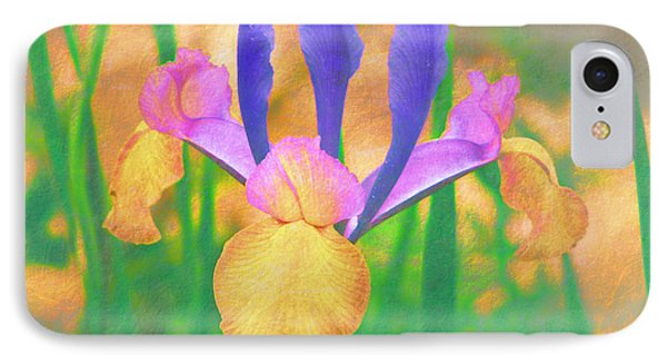 A Bearded Iris In My Vincent Van Gogh Garden IPhone Case