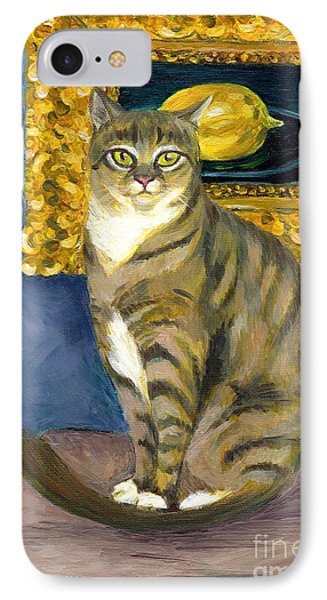 A Cat And Eduard Manet's The Lemon IPhone Case