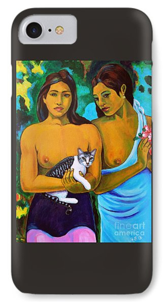 A Cat For Gauguin_ A Tahitian Feline IPhone Case
