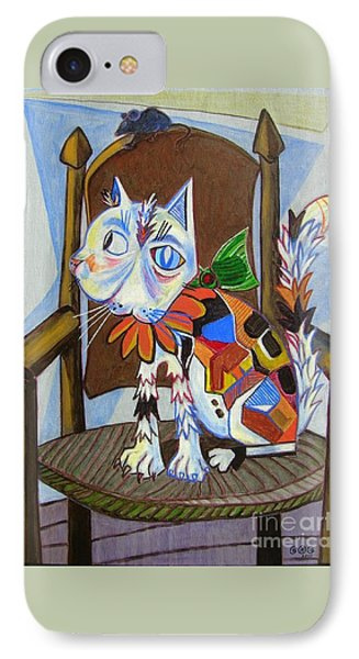 A Cat For Picasso_ Chat Et Souris IPhone Case