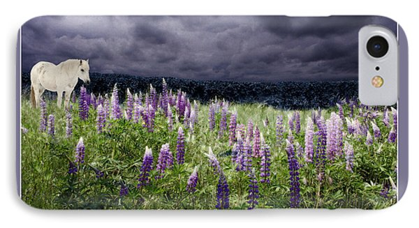 A Childs Dream Among Lupine IPhone Case