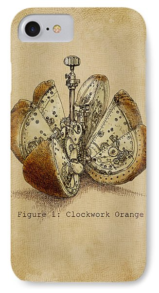 Fruit iPhone 8 Case - Steampunk Orange - Option by Eric Fan