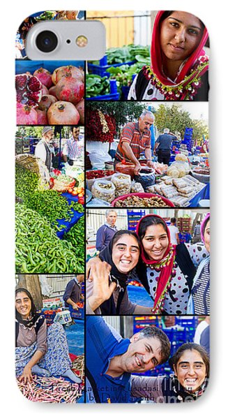 A Collage Of The Fresh Market In Kusadasi Turkey IPhone Case