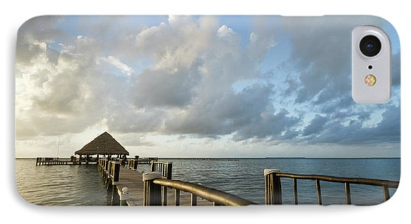 Belize iPhone 8 Case - A Dock And Palapa, Placencia, Belize by William Sutton
