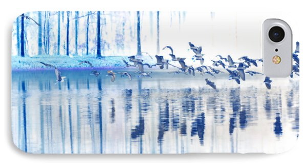 A Flock Of Egrets IPhone Case