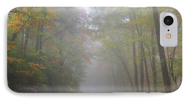 A Foggy Drive IPhone Case