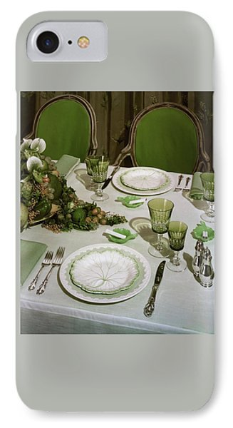 A Green Table Setting IPhone Case