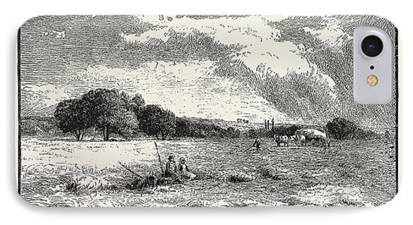 A Hayfield At Marlow IPhone Case