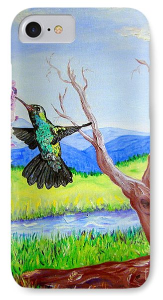 A Hummingbirds Day IPhone Case