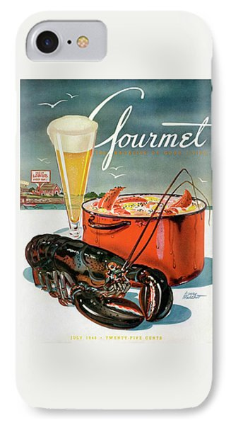 A Lobster And A Lobster Pot With Beer IPhone Case