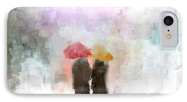 A Meeting In The Rain IPhone Case