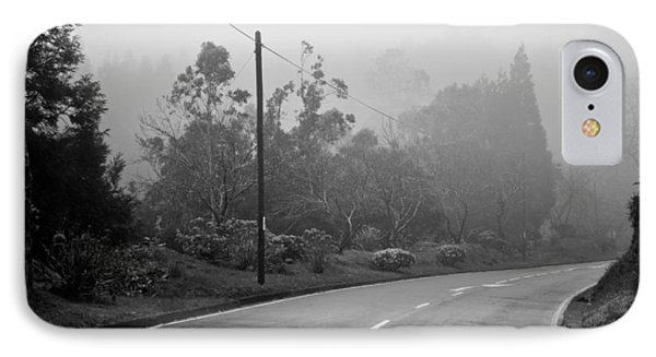 A Misty Country Road IPhone Case