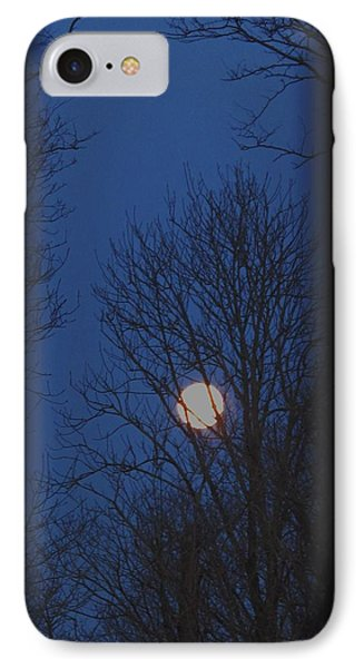 A Moon In A Blue Morning IPhone Case