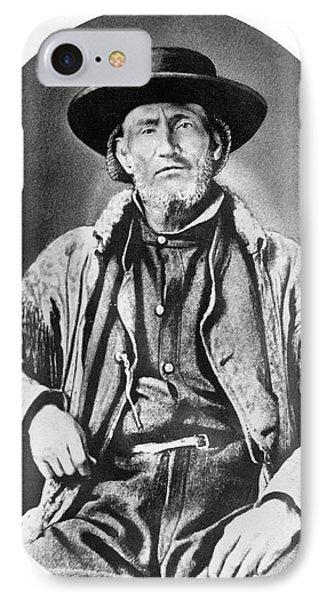 A Portrait Of Jim Bridger IPhone Case