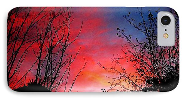 A Sky Made By...fire.. IPhone Case