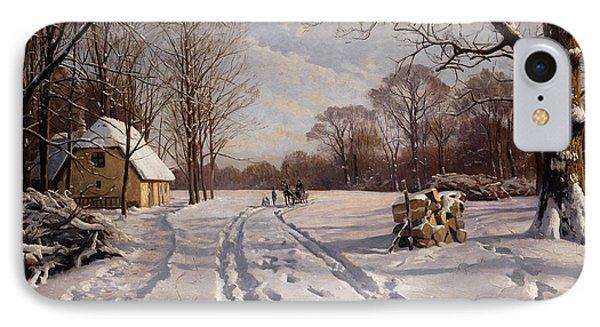 A Sleigh Ride Through A Winter Landscape IPhone Case