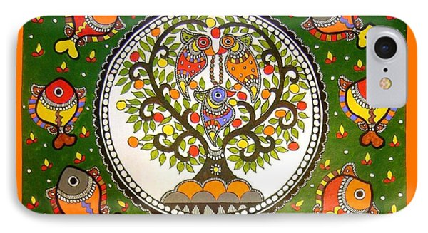 A Small Island-madhubani Painting IPhone Case