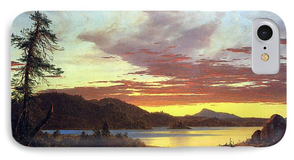 A Sunset By Frederick Edwin Church IPhone Case